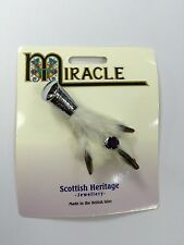 Grouse Foot Kilt Pin Brooch Chrome Amethyst Scottish Brand New