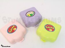 Set of 3 Vintage 1997 POKEMON POLLY POCKET Compacts Cases Playsets Tomy Toy Lot