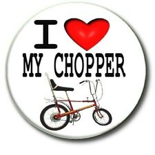 """I LOVE MY CHOPPER.70'S BICYCLE RETRO 1""""/25 mm BUTTON BADGE"""