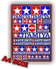 TAMIYA DECAL SET RC STICKER A4 SIZE VINTAGE TAMIYA LOGO FROG GRASSHOPPER ETC