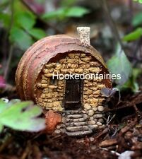 Barrel Fairy House Cottage 4159 Dollhouse Miniature Fairy Gnome Hobbit Garden