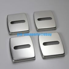 PM 4PCS Anti-rust Steel Door Lock Cover Cap Trim Body Kit for BMW X5 X6 E70 E71