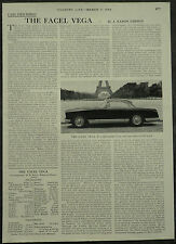 The Facel Vega Review Specification Road Test 1959 1 Page Photo Article