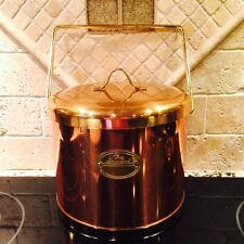 Vintage Kromex Chez Gourmand Copper Bar Ice Bucket with Handle Made in USA