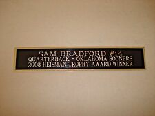 Sam Bradford Sooners Nameplate For A Football Jersey Display Case 1.5 X 8