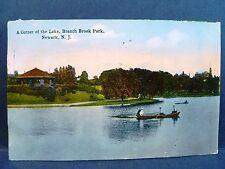 Postcard NJ Newark A Corner of the Lake Branch Brook Park 1915