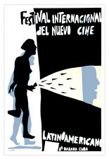 Cuban movie Poster 4 film Cinema FESTIVAL Latin America.Modern Home decor