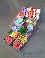 Espositore da banco in plexiglass a 6 piani per caramelle snack accendini etc