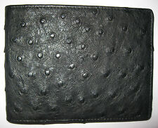 OSTRICH LEATHER  WALLET BLACK FROM THE OSTRICH CAPITAL OF THE WORLD