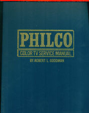 Philco Color TV Service Manual [TAB 522], 1970, with fold-out schematics