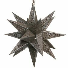 18 Inch Tin Star Light - Flower Cut