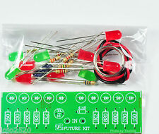 2 Way Audio VU meter 10 LED no need power supply [Unassembled Electronic Kit]
