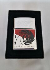 Zippo Lighter James Bond Agent 007 Tornado Swirl Black Red Goldeneye New in box