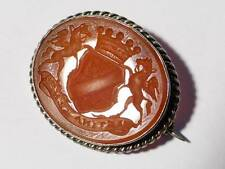 Antique PLUNKETT Family Intaglio Seal EARL of FINGAIL  Festina Lente Brooch