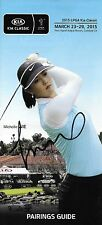 Michelle Wie Signed 2015 Kia Classic Golf Pairings Guide PSA/DNA COA Autograph