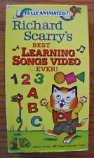 RICHARD SCARRY'S BEST LEARNING SONGS EVER VHS VIDEO 1993