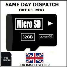 32gb MICRO SD CARD CLASSE 10 SDHC TF FLASH MEMORY-GARANZIA A VITA/UK Venditore