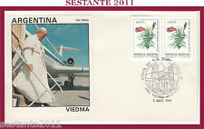 W28 VATICANO FDC ROMA VIAGGIO PAPA GIOVANNI PAOLO II ARGENTINA VIEDMA 1987