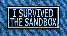 I SURVIVED THE SANDBOX Veteran Biker Motorcycle Patch by Dixiefarmer