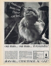 PUBLICITE ADVERTISING 064 1964 GAZ de FRANCE chauffage