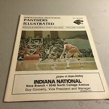 1977 North Central High School vs Shelbyville Basketball Program Indianapolis In