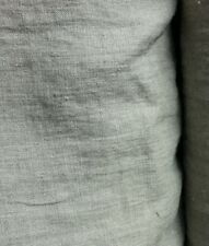 Natural flax linen fabric, organic pure softened grey linen medium weight fabric