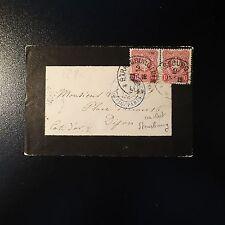 ALLEMAGNE N°32 PAIRE LETTRE BRIEF 1876 CAD STRASSBURG POUR DIJON FRANCE