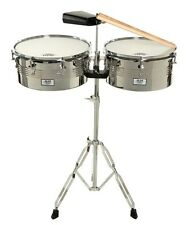 "AM Percussion Libre 13"" 14"" Timbale Kit with Stand and Cowbell"