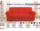 copridivano ELASTICO IMPERIALE poltrona 2 3 4 posti COLORI copri divano ITALY