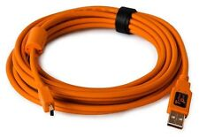 Tether Tools TetherPro USB 2.0 male to Mini-B 5 pin 15 feet, Hi-Visibilty Orange