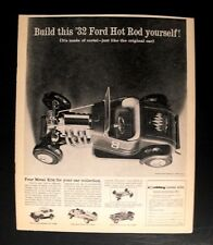 1960 Hubley Metal Model Kit 1932 Ford Hot Rod Toy Vintage Trade Promo Print Ad