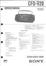 Sony Original Service Manual per CFD-V 20