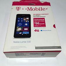NEW T-Mobile prepaid Nokia Lumia 530  4G  White Smartphone No Contract cellphone