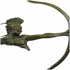 Indian Warrior With Bow And Arrow Bronze Sculpture Statue Figurine