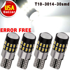 4x T10 194 192 168 Canbus Error Free 30-SMD Projector HID White LED Backup Light