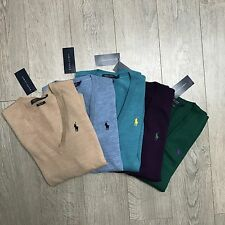 BNWT Ralph Lauren Polo Ladies Merino Wool V Neck Jumper Size S M L RRP £125