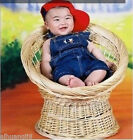 New Creative Photography Prop Handmade Woven Basket for Newborn Baby D-15