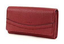 ESPRIT Katrina Flap Clutch Wallet Geldbörse Portemonnaie Damen Rot Dark Red