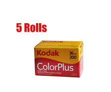 5 Rolls Kodak  Color Plus 200 35mm 135-36EXP Print Film 05/2018 Free Shipping