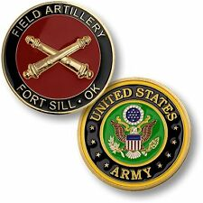NEW U.S. Army Field Artillery, Fort Sill, OK Challenge Coin. 61543.