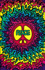 Psychedelic Peace Blacklight Poster Print, 23x35