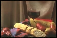 157074 Red Wine Platter With Swiss Cheese A4 Photo Print