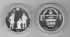 2003 Mongolia Large Silver Proof  500 Togrog-Soccer World Cup Germany