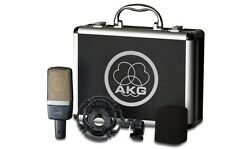 AKG C214 condensor studio mic w/mount & case C-214 Factory Sealed Retail Box