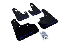 Rally Armor Mud Flaps Guards for 08-15 Lancer & Ralliart (Black w/Blue Logo)