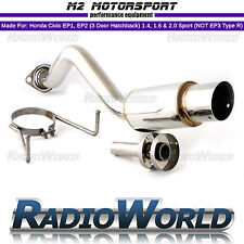 M2 Honda Civic Honda Civic Sport EP2 EP1 1.4 Spec Angled Tip Back Box Exhaust