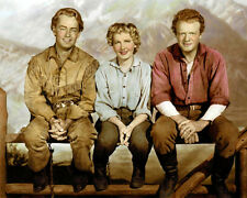 "ALAN LADD JEAN ARTHUR VAN HEFLIN ACTORS SHANE 1953 8x10"" HAND COLOR TINTED PHOTO"