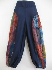 New Ladies Patchwork Harem Pants Bohemian Boho Hippie Aladdin Yoga Trousers