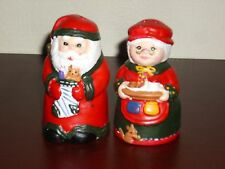 **New** Ceramic Mr. and Mrs. Claus Salt and Pepper Shaker Set