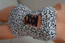 Victoria's Secret swimsuit one piece swim wear monokini S leopard $99 cut out